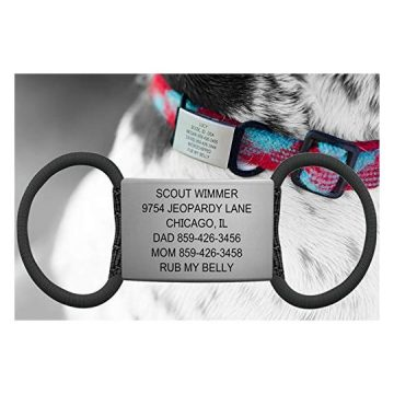 The Pet ID 19mm Slate Black Jingle Free Peace of Mind
