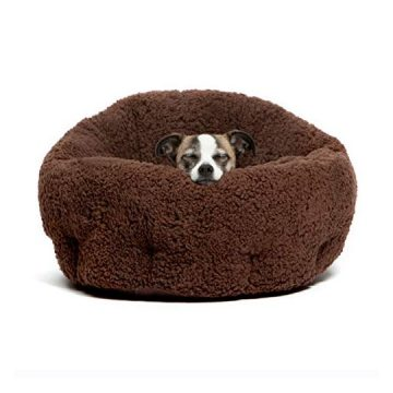 Best Friends by Sheri OrthoComfort Deep Dish CuddlerSelfWarming Cat and Dog Bed Cushion for JointRelief Waterproof Bottom Brown