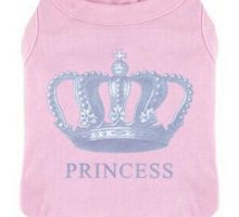 EXPAWLORER Princess Fashion Pet TShirt Small Dog Cat Vest Clothes Puppy Costumes for Chihuahua Yorkshire Terrier Pink S