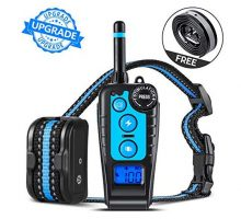 GLOUE Dog Training Collar1000FT Remote Shock Collar for DogsWaterproof and RechargeableBeep Vibration Shock w 3 Training Modes for Small Medium Large Dogs