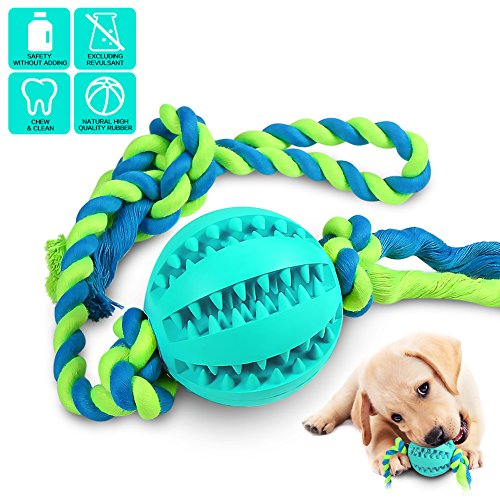 Interactive Dog Toys Dog Chew Toys Ball for small Medium dogs  IQ Treat Boredom Food Dispensing Puzzle Puppy Pals Tough Durable Rubber Pet ball best Cleans Teeth dog balls