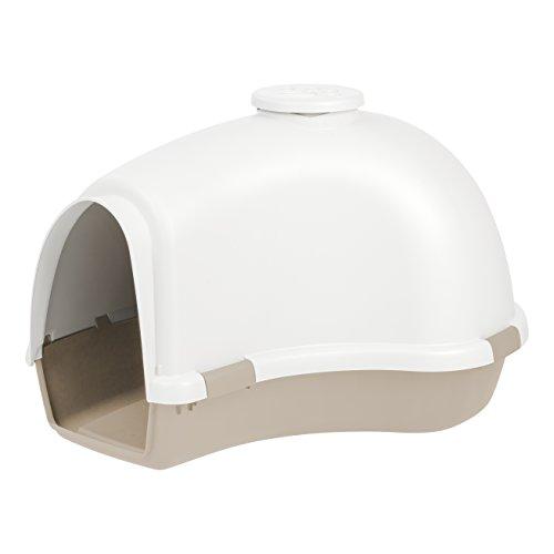 IRIS IDHL Large Igloo Shaped Dog House White Almond