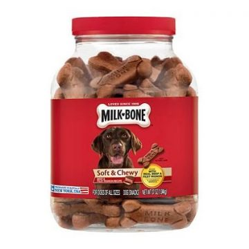 MilkBone Soft & Chewy Beef & Filet Mignon Recipe Dog Snacks