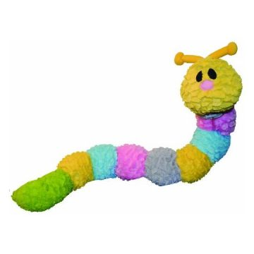 Patchwork Pet Pastel Caterpillar 35Inch Squeak Toy for Dogs