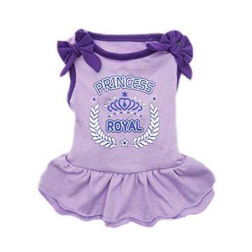 kyeese Dog Princess Dresses Purple Bowtie Pet Apparel for Medium Dogs Vest Shirt Sundress