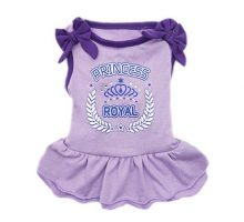 kyeese Dog Princess Dresses Purple Bowtie Pet Apparel for Small Dogs Vest Shirt Sundress