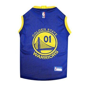NBA GOLDEN STATE WARRIORS DOG Jersey Large  Tank Top Basketball Pet Jersey