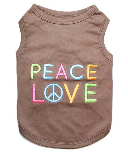 Parisian Pet Peace Love Dog TShirt XL