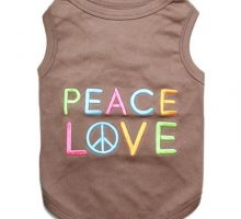 Parisian Pet Peace Love Dog TShirt XL