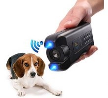 PET CAREE Handheld Dog Repellent Ultrasonic Infrared Dog Deterrent Bark Stopper + Good Behavior Dog Training