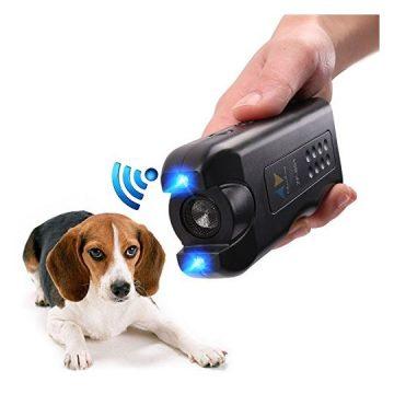 PET CAREE Handheld Dog Repellent Ultrasonic Infrared Dog Deterrent Bark Stopper + Good Behavior Dog Training