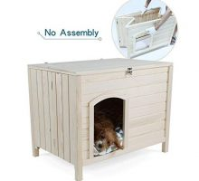 Petsfit No Assembly Portable Wooden Dog House 31″ x 20″ x 24″