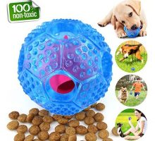 CHLEBEM Interactive Dog Toys Dog Chew Toys Ball for Small Medium Dogs IQ Treat Boredom Food Dispensing Puzzle Puppy Pals Tough Durable Rubber Pet Ball Best Cleans Teeth Dog Balls