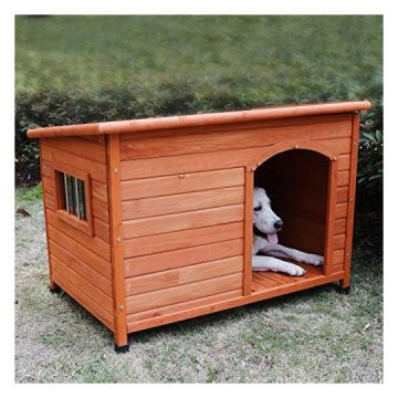 Rockever Wooden Dog Houses for Large Dogs Outside Large Dog House Outdoors Weatherproof with Door Insulated