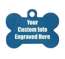 Hat Shark Custom Personalized 3D Laser Engraved Bone Shaped Pet ID Tag