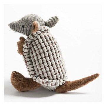 Hollypet Squeaky Armadillo Pet Plush Dog Chew Toy
