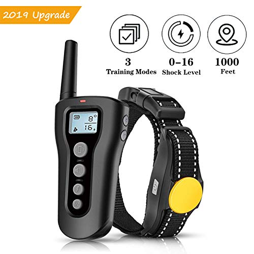 PATPET Dog Shock Collar with Remote  1000ft Range Shock Collar for Dogs IPX7 Waterproof No Harm Dog Training Collar Fast Training Effect for Small Medium Large Dogs
