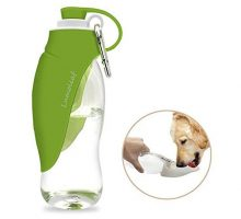 Portable Pet Water Bottle by LumoLeaf Reversible & Lightweight Water Dispenser for Dogs and Cats Made of FoodGrade Silicone