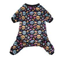 CuteBone Dog Pajamas Coco Skulls Dog Apparel Dog Jumpsuit Pet Clothes Pajamas P73L