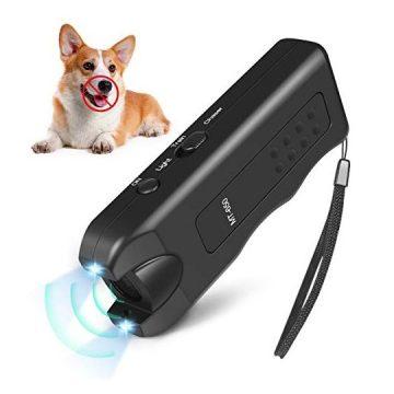 Handheld Dog Repellent Ultrasonic Infrared Dog Deterrent Bark Stopper + Good Behavior Dog Training