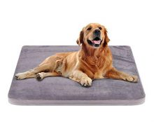 JoicyCo Large Dog Bed Crate Pad Dog Mat Mattress Pet Beds Foam Cushion with Washable Cover AntiSlip 3937″