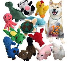 LEGEND SANDY Squeaky Plush Dog Toy Pack for Puppy Small Stuffed Puppy Chew Toys 12 Dog Toys Bulk with Squeakers Cute Soft Pet Toy for Small Medium Size Dogs