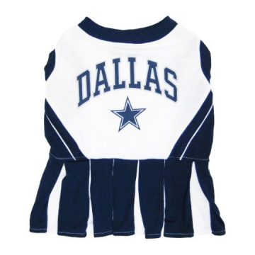 Dallas Cowboys NFL Cheerleader Dress For Dogs  Size Medium