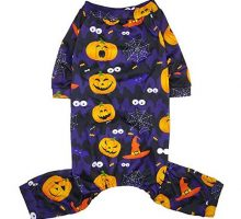 Lamphyface Halloween Dog Pajamas Clothes Pet Costume Apparel Coat Jumpsuit