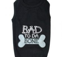 Parisian Pet Bad to Da Bone Dog TShirt M