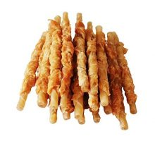 Pawant Puppy Treat Training Snacks Dog Chews Treats Chicken Wrapped Rawhide Sticks 1lb