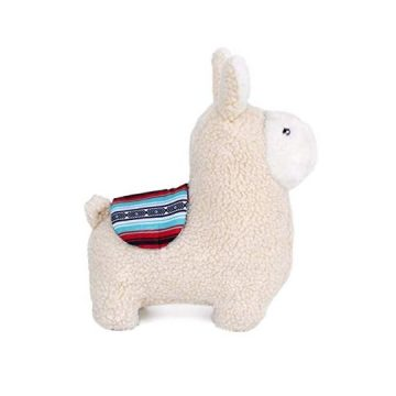 ZippyPaws  Storybook Snugglerz Squeaky Dog Toy with Stuffing  Liam The Llama