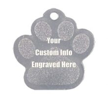Hat Shark Custom Personalized 3D Laser Engraved Paw Shaped Pet ID Tag