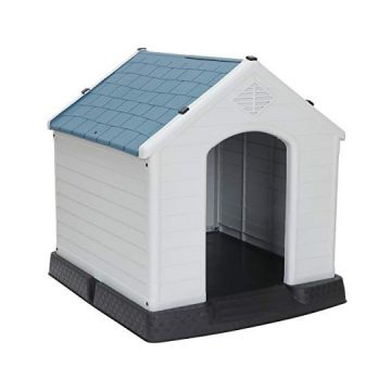 ZENY Plastic Dog House  Water Resistant Dog Kennel for Small to Large Sized Dogs All Weather Indoor Outdoor Doghouse Puppy Shelter