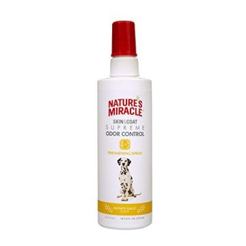 Nature Miracle Skin & Coat Freshening Spray For Dogs Honey Sage Scent 8 Ounces