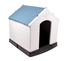 442 Trade Pet Waterproof Plastic Dog Kennel with Air Vents and Elevated Floor for Indoor Outdoor Use Pet Dog House Winter House XLarge 38 inc