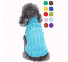 Bwealthest Small Dog Sweater  Warm Puppy Sweater Cute Knitted Classic Dog Coat Doggie Unisex Sweater Clothes Pet Dog Sweatshirt ApparelSuitable for 15lb  18lb
