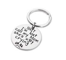Funny Pet Tags Personalized Puppy Pet ID Tags for Dog Cats Owner or Dog Lover Sht I'm Lost My Mom is Ugly Crying Stainless Steel Dog Collar Tag