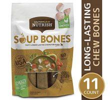 Rachael Ray Nutrish Soup Bones Longer Lasting Dog Treats Chicken & Veggies 11 Bones