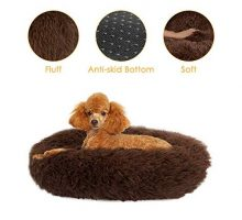 SlowTon Pet Calming Bed Donut Cuddler Nest Warm Soft Plush Dog Cat Cushion with Cozy Sponge NonSlip Bottom for Small Medium Pets Snooze Sleeping Autumn Indoor Machine Washable