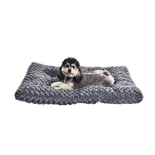 AmazonBasics Pet Dog Bed Pad  35 x 23 x 3 Inch Grey Swirl