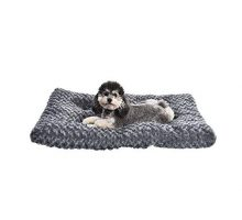 AmazonBasics Pet Dog Bed Pad  35 x 23 x 3 Inch Grey Swirl