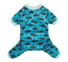 CuteBone Dog Pjs Shark Dog Apparel Dog Jumpsuit Pet Clothes Pajamas Coat Xmas P74S