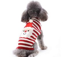 DOGGYZSTYLE Christmas Pet Clothes The Stripe Snowman Sweater The Cat Dog Sweater Pets Jacket Dogs Apparel