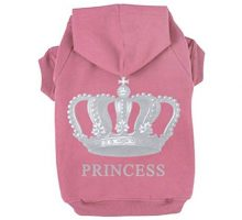 EXPAWLORER Princess Dog Cat Fleece Sweatshirt Hoodies  Pink Small