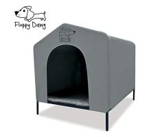 Floppy Dawg Elevated Dog Shelter Great for Outdoor or Indoor Use Made of Water Resistant Durable Oxford Fabric Pet Shelter is Easy to Assemble Lightweight and Portable