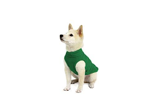 Gooby  Stretch Fleece Vest Pullover Fleece Vest Jacket Sweater for Dogs Forest Green Medium