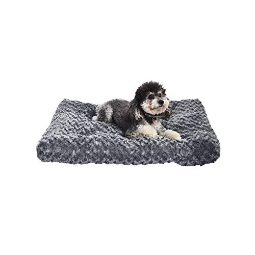 AmazonBasics Pet Dog Bed Pad  29 x 21 x 3 Inch Grey Swirl