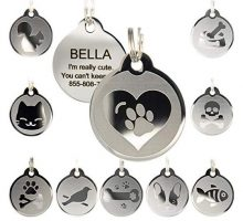 Custom Engraved Stainless Steel Pet ID Tags  Engraved Personalized Identification Durable & Long Lasting Dog Tags Cat Tags
