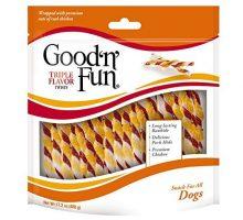 Good'N'Fun P94188 Triple Flavor Twists Dog Chews One Size