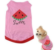 Howstar Pet Shirt Printed Puppy Shirt Dog Clothes Soft Vest for Summer Pet Apparel